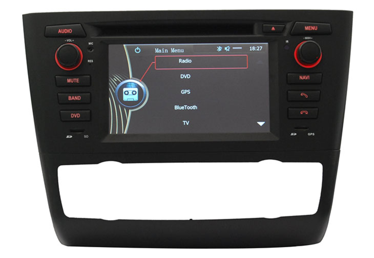 car dvd player gps navigation for BMW E81 E82 E88(automatic air-conditioner) with radio bluetooth TV
