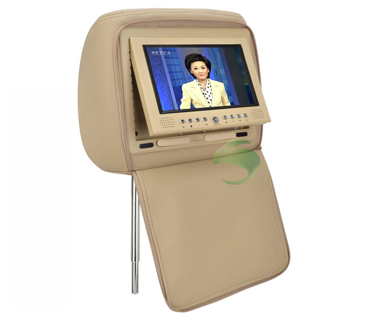 7 inch Headrest DVD Player and Protective Screen Cover(Games,FM,1 Pair)