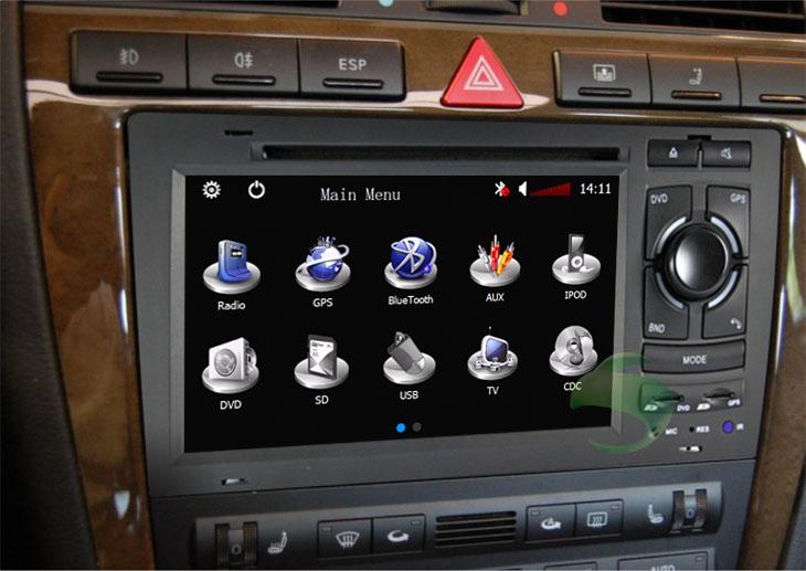 AUDI A8 car radio after installation