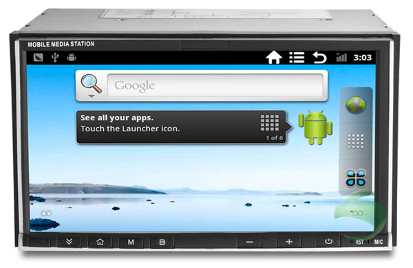 Android 2.3 OS 2 din Universal Car dvd player