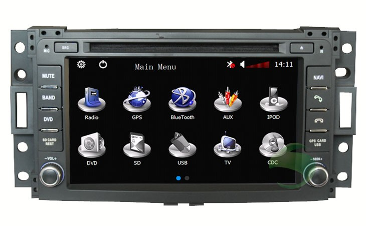 Hummer H3 dvd player
