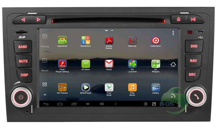 Aftermarket Audi A4 GPS Navigation System