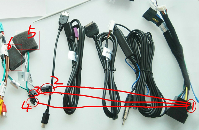 Mercedes-Benz CLK-W209 DVD player Special Optic Fiber Amplifier plug short power cable connection