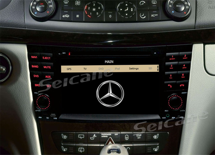 Mercedes-Benz CLK-W209 car dvd after installation