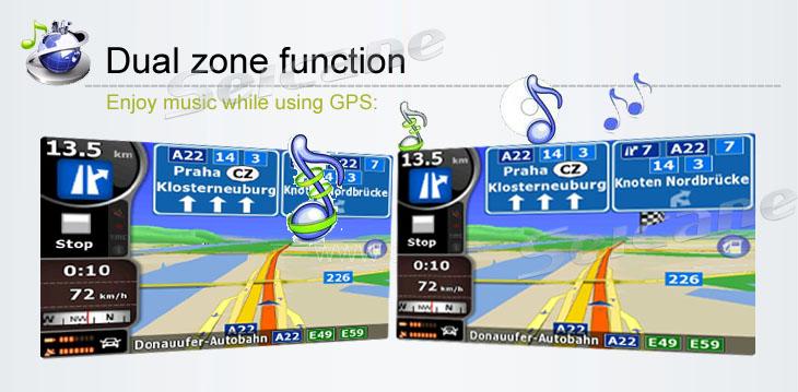 Enjoy music while using GPS