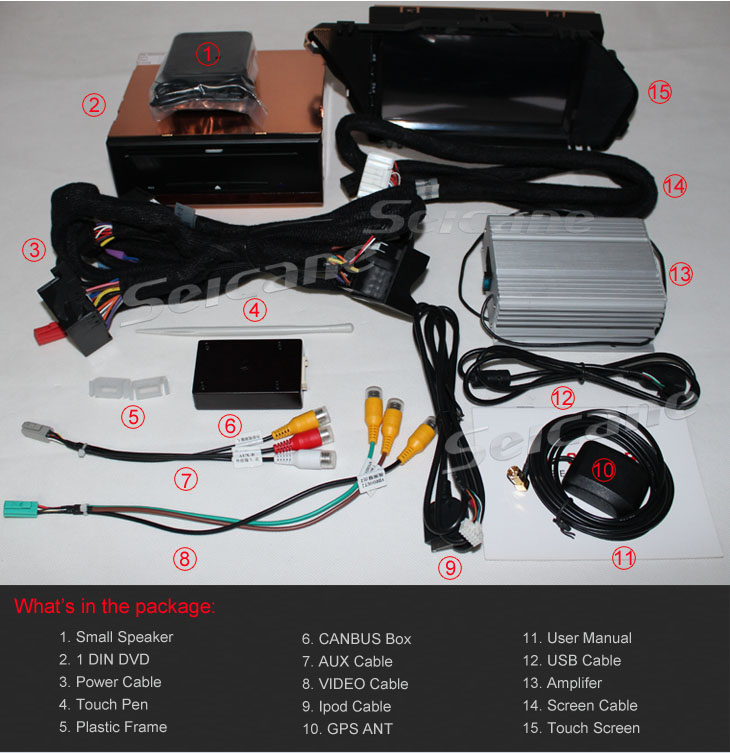 Mercedes-Benz GLK X204 dvd player accessories