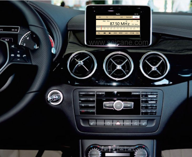 installed 8 inch touch screen Mercedes Benz A Class W176 GPS Navigation System