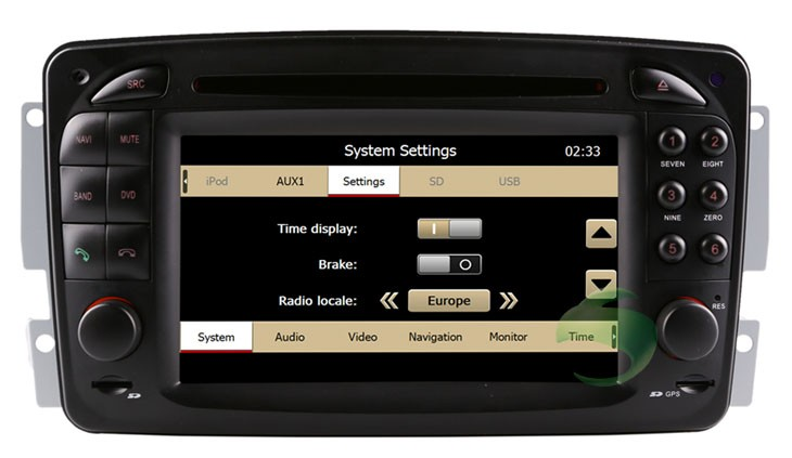 The appearance of DVD player special for Mercedes-Benz G-W463