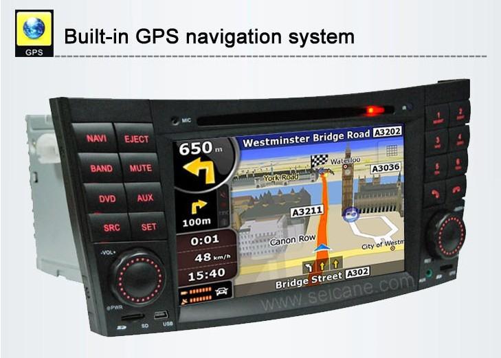 Interface of Mercedes-Benz E-Class W211 GPS navigation system