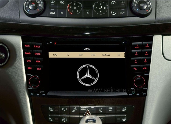 The dashboard picture after installing Mercedes-Benz E-Class W211 DVD player GPS navigation