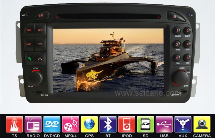 The great functions  in Mercedes-Benz CLK-W209 DVD player
