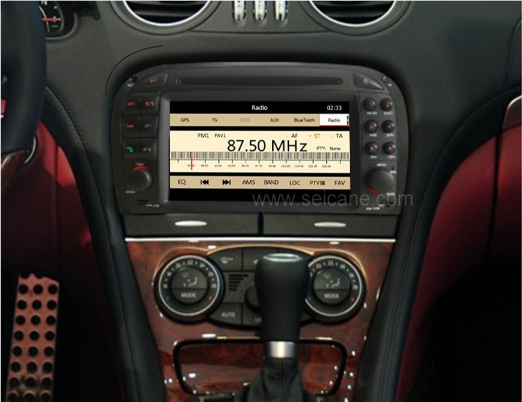 The effect picture of your car's dashboard after installing Mercedes SL R230 dvd player