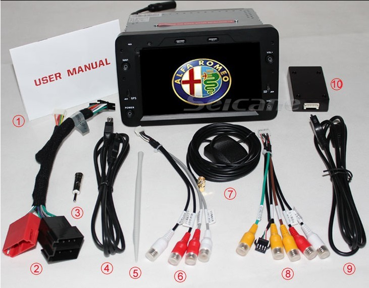 accessories picture for Alfa Romeo 159 DVD player