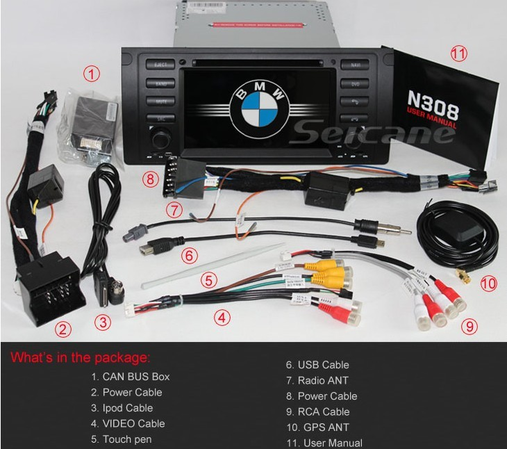 accessories picture for BMW X5 E53 DVD player