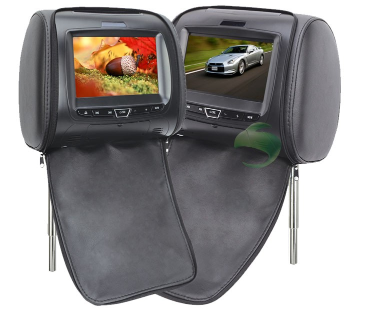 1 Pair headrest DVD player for cars