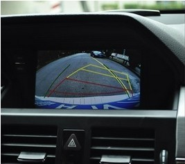 The rearview function showed by the car DVD player