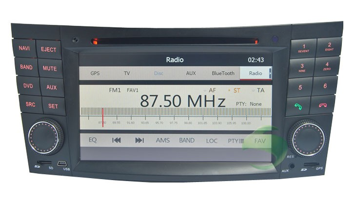 the car radio function of the dvd player with GPS