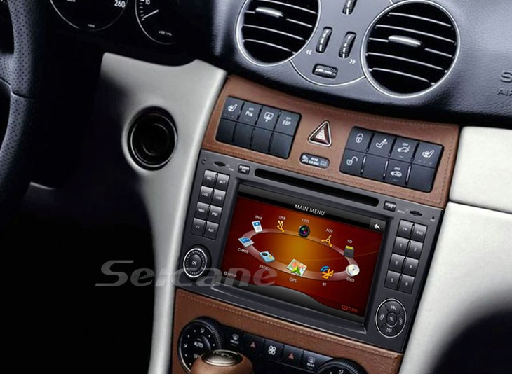 The car DVD photo in dashboard after installation