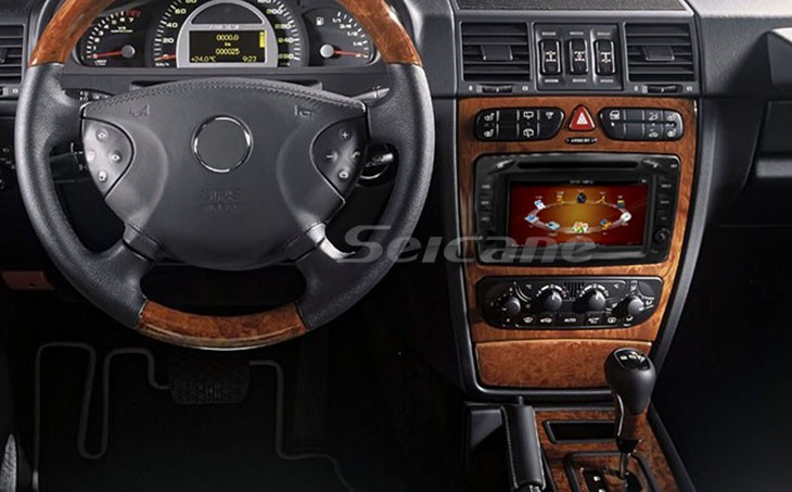The special car DVD player installation effect photo