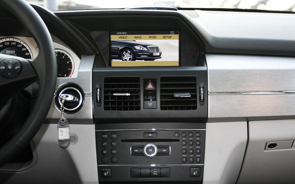 Car DVD Player after installation picture for Mercedes-Benz Serie