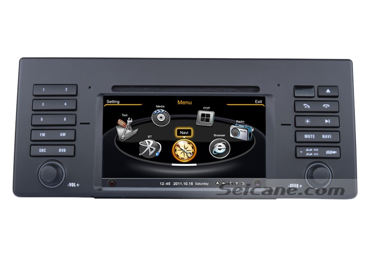 The main menu of Car DVD Player with multi-touch dvr functions