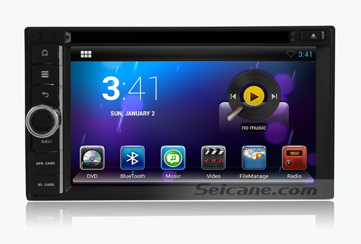 homepage of the universal car nav head unit