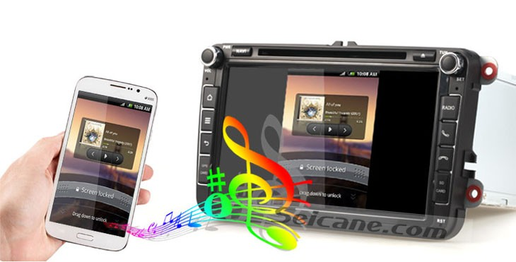 Ipod function of Android 4.4.4 2003-2011 Volkswagen Series Car DVD Player
