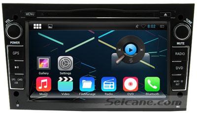 2005-2011 Opel Zafira android 4.4.4 car dvd player main menu