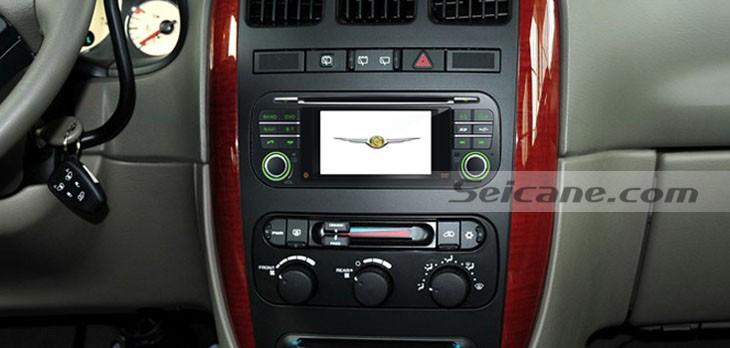 2001-2007 Chrysler 300M Car Nav head unit after installation
