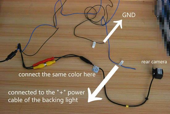 2001-2007 Chrysler 300M Car Nav head unit rearview camera connection