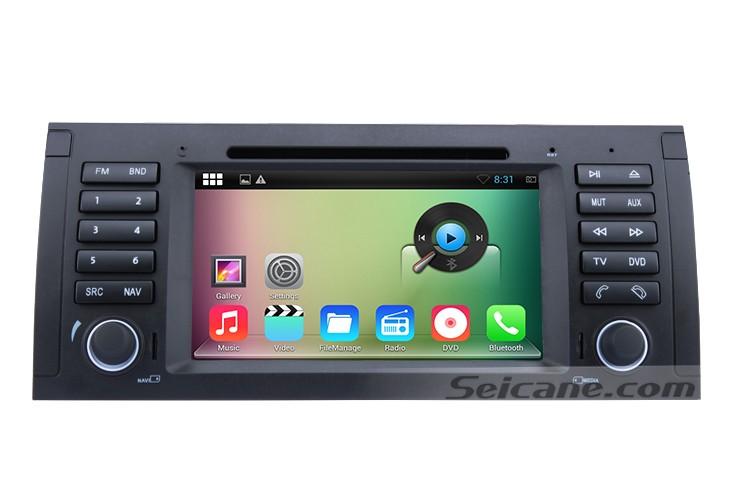 main menu of Android 4.4.4 2000-2007 BMW X5 E53 DVD GPS radio removal-1