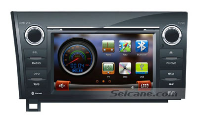 main menu of replaced car DVD player for 2007-2011 Toyota Sequoia Tundra