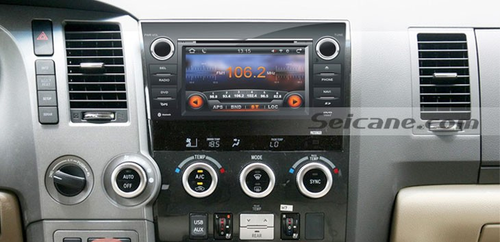 replaced car DVD player for 2007-2011 Toyota Sequoia Tundra after installation