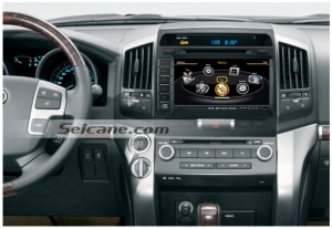 Head unit after installation,in dash dvd bluetooth with navigation system of Toyota Land Cruiser 200 Series
