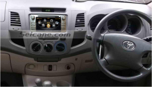 Car stereo autoradio after installation,GPS dvd sat nav system of 2012 Toyota Hilux