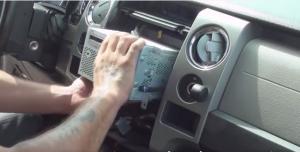 Remove car radio
