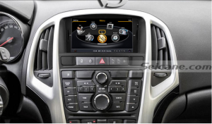 Car head unit after installation,DVD GPS navigation system with bluetooth music of 2011 2012 2013 Opel Astra