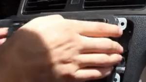 2013-2015 VW Santana radio removal step 3