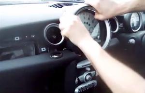 BMW Mini Cooper radio removal step 3