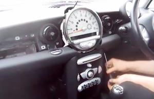 BMW Mini Cooper radio removal step 4