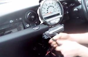 BMW Mini Cooper radio removal step 6