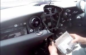 BMW Mini Cooper radio removal step 7