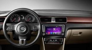 VW Santana radio after installation