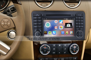 2005-2012 Mercedes Benz GL Class X164 head unit after installation