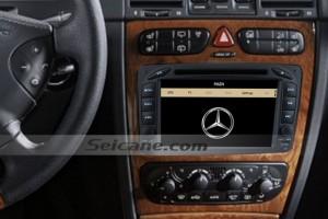 1998-2002 Mercedes Benz A W168 head unit after installation