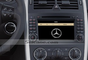 2004-2012 Mercedes Benz A Class W169 car stereo after installation