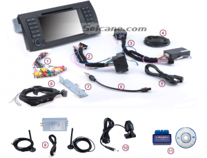 13. Check all the accessories for the new Seicane head unit.
