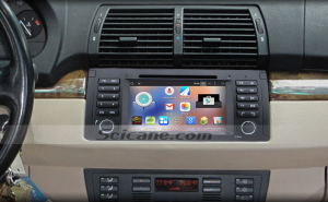 2000-2007 BMW X5 E53 head unit after installation