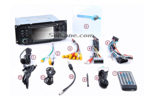 6-2. Check all the accessories for the new Seicane car radio.