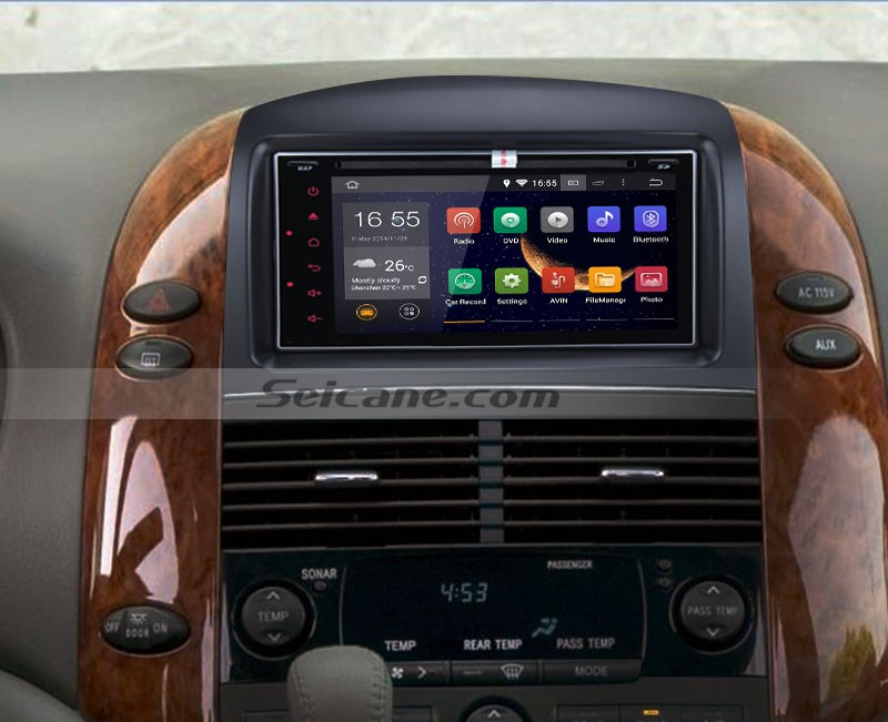 2004-2010 Toyota Sienna car radio after installation